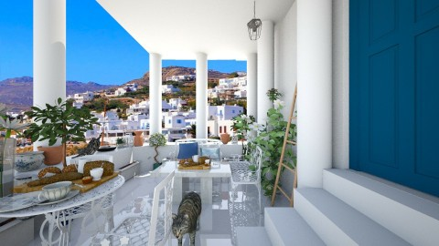 Greek terrace1 - Garden - by AnnaMull