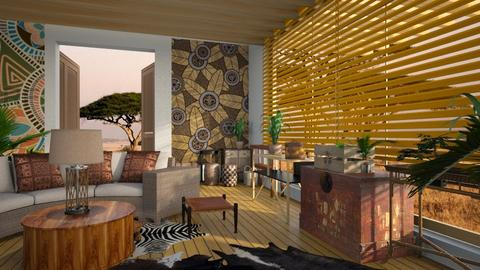 Out Of Africa - Living room - by ZuzanaDesign