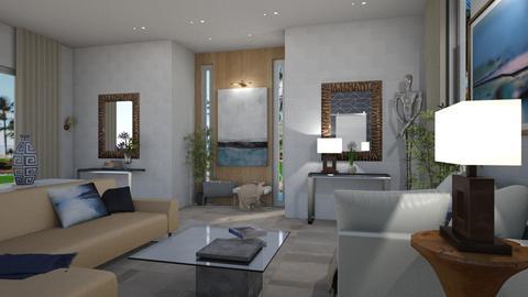 Blue Invitation  - Living room - by TrustKisha