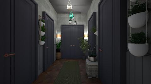 Urban jungle hallway - by lovedae_parfait