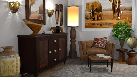 A touch of Africa - Living room - by kelseyleigh3