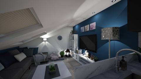 Attic living room - Living room - by ivona_h