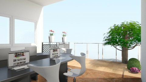 office balcony - Office - by tinin