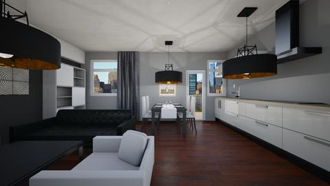 Living Room with Kitchen  - Modern - Living room - by alihan