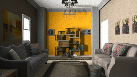 Fire  - Modern - Living room - by Menna Ibrahim