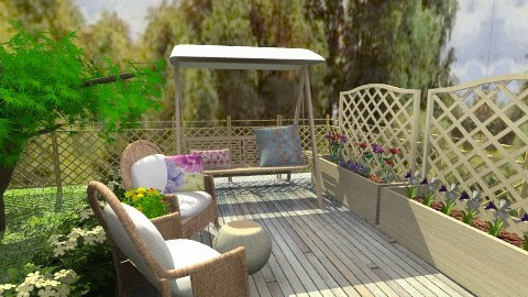 Grandmothers veranda - Country - Garden - by Anna Rainbow