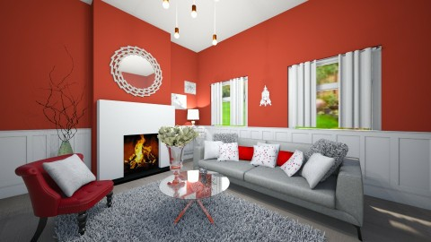 red relax - Modern - Living room - by marble101