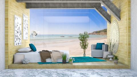 Beach Glass Wall - Bedroom - by millerfam