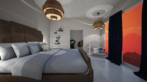 BLUE AND ORANGE - Bedroom - by nicolaswiggins