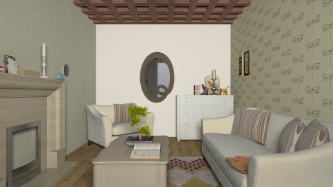 Young Lady Living Room - Feminine - Living room - by coccinelledu28