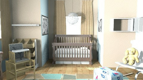 Baby boy Nursery - Masculine - Kids room - by jasperhale