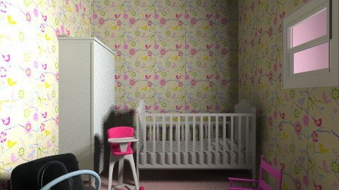 Girl Nursery Room - Minimal - Kids room - by kat89