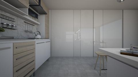 kitchen with bar - Kitchen - by georgiarafferty14