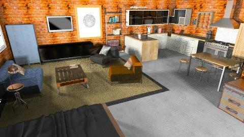 Industrial loft - Eclectic - Bedroom - by Marxipan