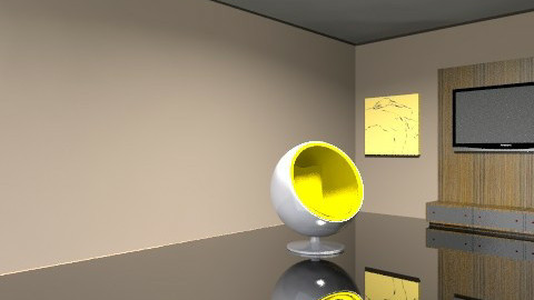 Minimalsit Yellow - Modern - Living room - by paige0806