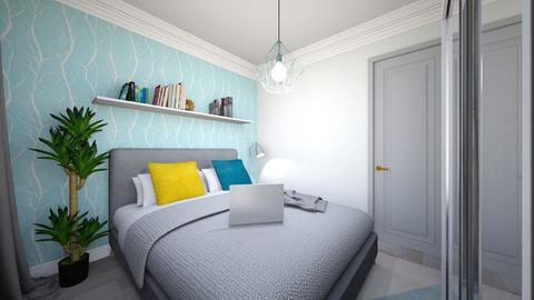 bedroom with desk - Modern - Bedroom - by Popa Bianca Rozalia