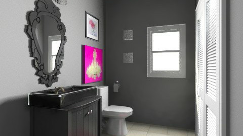 Jenn Torosian Powder Room - Eclectic - Bathroom - by drapoel