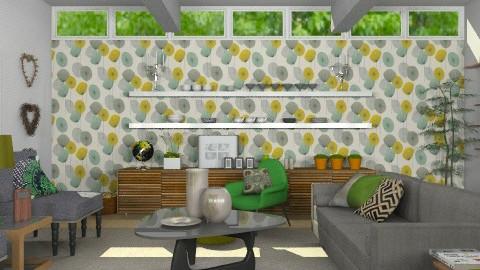 Sixties Suburban - Retro - Living room - by Carliam
