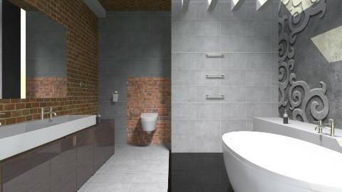 Bathroom loft gray - Modern - Bathroom - by bisertanya