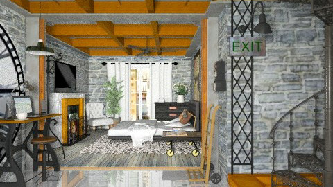 Time Share - Vintage - Bedroom - by starsector