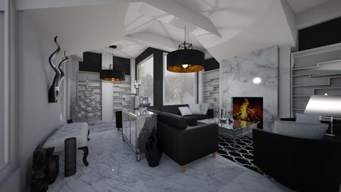 Black and White - Living room - by PenAndPaper