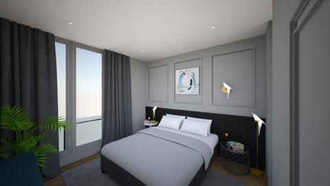 Grey bedroom 2 - Bedroom - by bianca boeriu