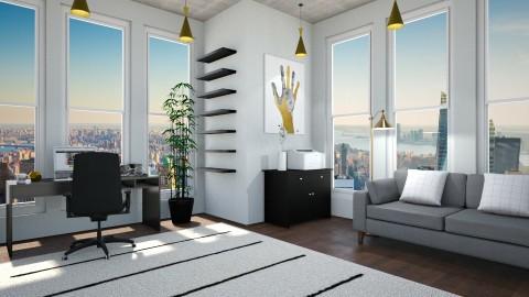 Modern Home Office - by stingraygirl
