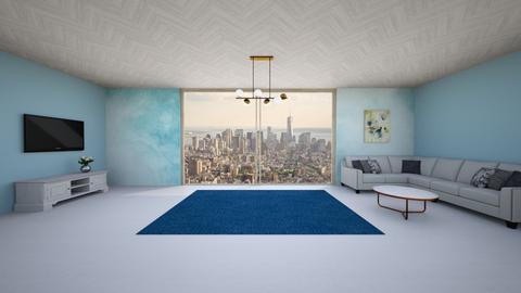 Blue Livingroom - Living room - by Haniehmn