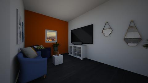 orange blue home - Modern - Living room - by Larica bublica