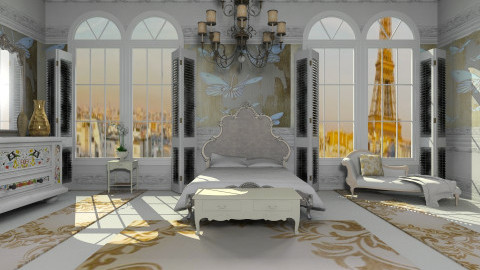 Chez Dior - Bedroom - by auntiehelen