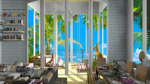 Beach Home - Living room - by annasashan610