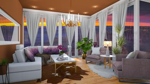 VILLA WITH CANYON VIEW - Living room - by MissREZA