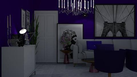 Purple and White - Modern - Living room - by HenkRetro1960