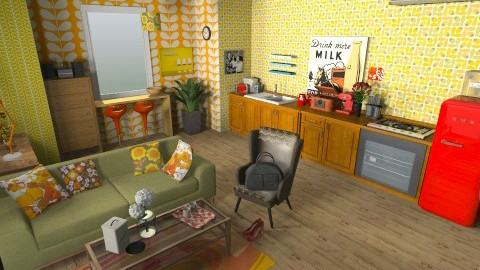 retro - Retro - Kitchen - by okaaa