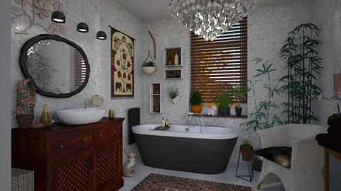 Bohemian Bathroom - by JM Krab