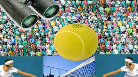 Wimbledon from spectators view - by julietta