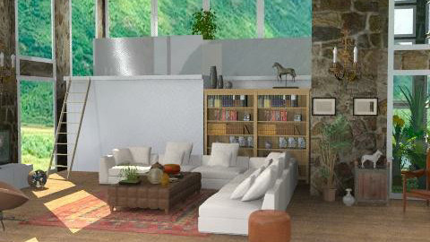 LivingRoom1445 - Rustic - Living room - by camilla_saurus