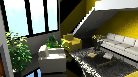 Black White Yellow - Modern - Living room - by Emsia