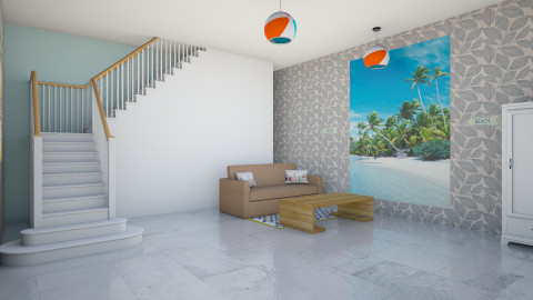 Beach Living room - Vintage - Living room - by indiannaerickson