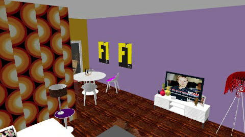 Purple - Living room - by georgette