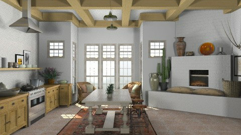 Random Spaces - Santa Fe Kitchen2 - Rustic - Kitchen - by LizyD
