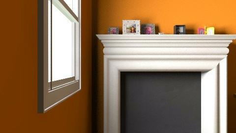 Dorm Room Orange - Bedroom - by ASKAbby