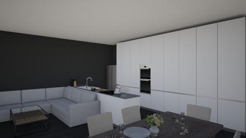 modern open plan kitchen - Modern - Kitchen - by shaun the emu
