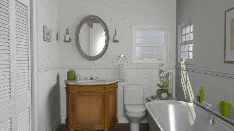 Lakeside Cottage - Guest Bathroom - Rustic - Bathroom - by LizyD