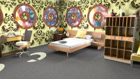 retro motel - Retro - Bedroom - by ATELOIV87