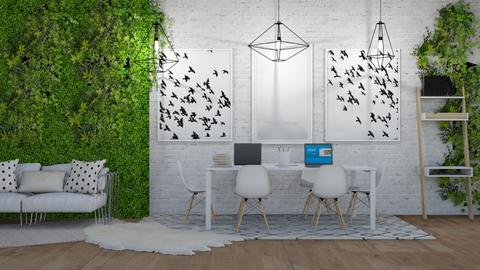 office - Modern - Office - by NEVERQUITDESIGNIT