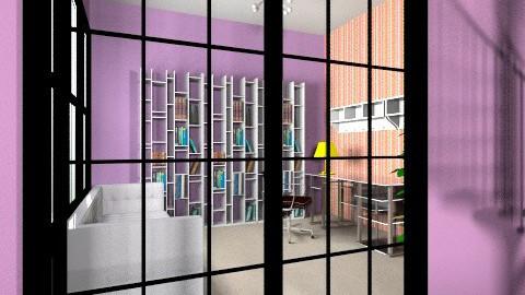 Purple - Modern - Dining room - by adisadelic