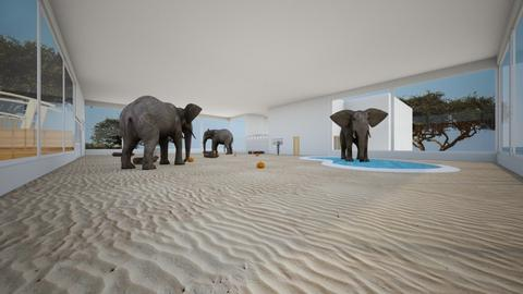 elephant sanctuary - by Kasie Daphne Saurus