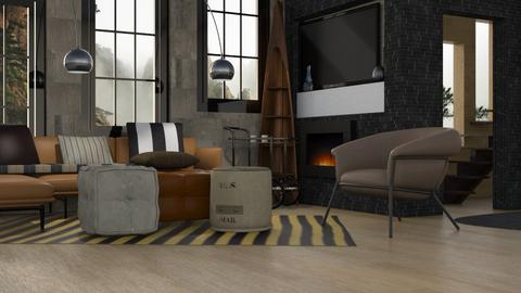 Den - Modern - Living room - by Jessica Fox