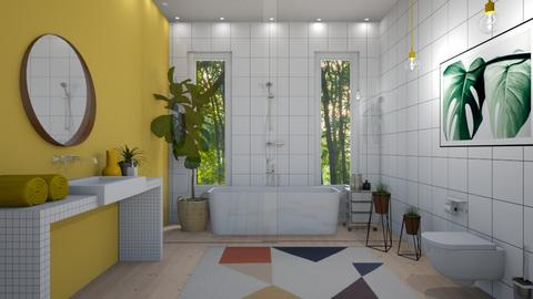 yellow bathroom - Bathroom - by siljaj